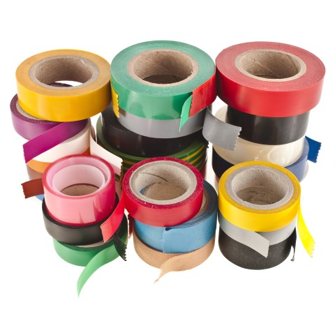 Colored Rolls Of Silicone Adhesive Tape
